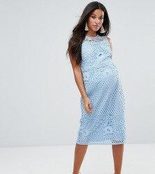ASOS Maternity Premium Lace Dress - Blue