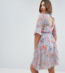 ASOS Maternity PREMIUM Pretty Skater Dress with Embroidery - Multi