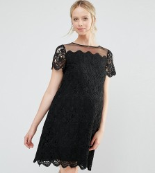 ASOS Maternity Premium Shift Dress In Lace - Black