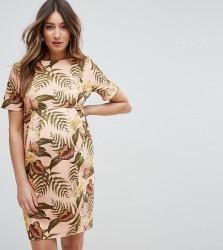ASOS Maternity Smart Dress in Tropical Print - Multi