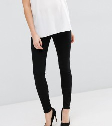 ASOS MATERNITY TALL Ridley Skinny Jeans In Clean Black With Under The Bump Waistband - Black