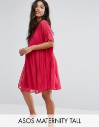 ASOS Maternity TALL Woven Smock Dress - Red