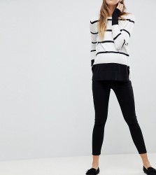 ASOS Maternity Whitby Low Rise Skinny Jeans WITH REMOVABLE BUMP BAND In Clean Black - Black