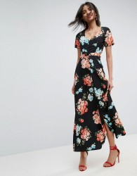 ASOS Maxi Tea Dress with Open Back in Floral - Multi