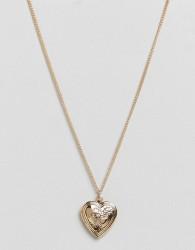 ASOS Mini Love Locket Necklace - Gold