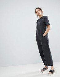 ASOS Minimal Jumpsuit with Dropped Crotch - Black