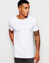 ASOS Muscle Fit T-Shirt With Crew Neck And Stretch - White
