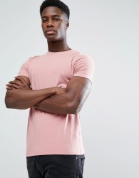ASOS Muscle Fit T-Shirt With Crew Neck In Pink - Pink