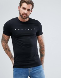 ASOS Muscle T-Shirt With Bossman Print - Black