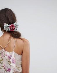 ASOS Occasion Velvet Floral Hair Comb - Multi
