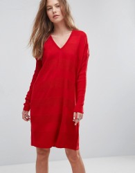 ASOS Oversized Knitted Dress - Red