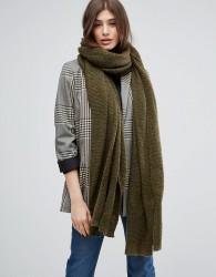 ASOS Oversized Long Knit Scarf - Green