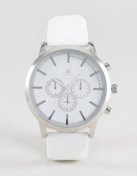ASOS Oversized Rubberised Watch In Sleek White - White