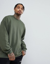 ASOS Oversized Sweatshirt In Green - Green