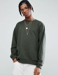 ASOS Oversized Sweatshirt In Khaki - Green