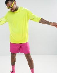 ASOS Oversized T-Shirt In Neon Yellow Velour - Yellow