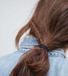 ASOS Pack of 10 Triple Band Hair Ties - Black
