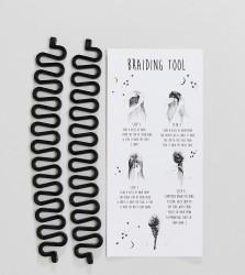 ASOS Pack of 2 Festival Plait Hair Tools - Black