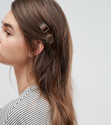 ASOS Pack of 2 Mini Open Shapes Hair Clips - Multi