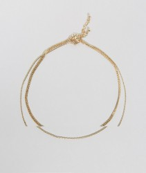 ASOS Pack of 3 Vintage Style Necklaces and Bralet Harness - Gold