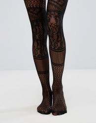 ASOS Panelled Lace Tights - Black