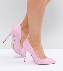 ASOS PARIS Wide Fit Pointed High Heels - Pink