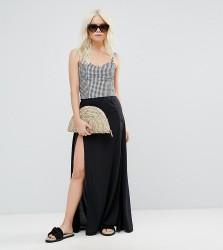 ASOS PETITE Beach Split Hem Maxi Skirt - Black