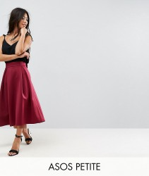 ASOS PETITE Bow Back Scuba Prom Skirt - Red