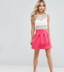 ASOS PETITE Mini Prom Skirt in Scuba - Pink