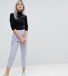 ASOS PETITE Mix & Match Highwaist Cigarette Trousers - Grey
