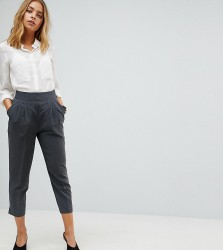 ASOS PETITE The High Waist Tapered Trousers - Grey