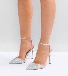 ASOS PHARAOH Wide Fit Bridal Embellished High Heels - Cream