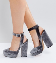 ASOS PINATA Wide Fit Platforms - Grey