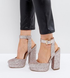 ASOS PINATA Wide Fit Platforms - Pink