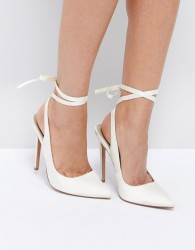 ASOS PIPE DOWN Bridal Pointed High Heels - Cream