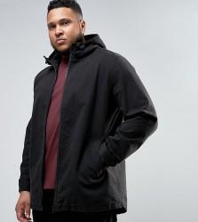 ASOS PLUS Lightweight Parka Jacket In Black - Black