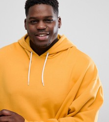 ASOS PLUS Oversized Hoodie In Yellow - Yellow