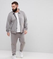 ASOS PLUS Retro Tracksuit Harrington Jacket/ Skinny Joggers - Grey