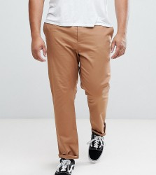ASOS PLUS Slim Chinos In Camel - Brown