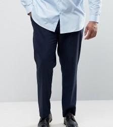 ASOS PLUS Slim Smart Trousers In Navy - Navy
