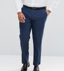 ASOS PLUS Slim Suit Trousers In Mid Blue - Blue