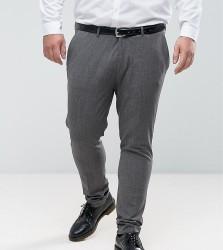 ASOS PLUS Super Skinny Suit Trousers In Salt & Pepper - Multi