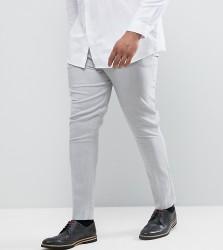 ASOS PLUS Super Skinny Trousers In Pale Grey - Grey