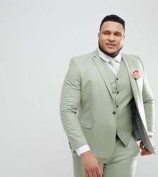 ASOS PLUS Wedding Skinny Suit Jacket In Sage Green - Green