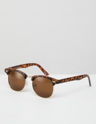 ASOS Polarised Classic Retro Sunglasses - Brown