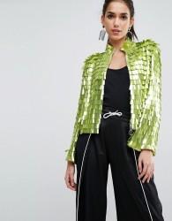 ASOS Premium Sequin Kimono Jacket - Green