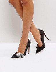 ASOS PRINCESS Jewelled High Heels - Black