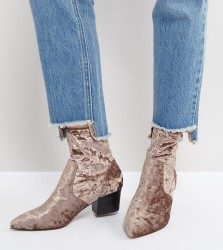 ASOS REGIONAL Point Sock Boots - Beige