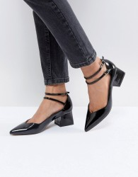 ASOS SINCERE Pointed Block Mid Heels - Black