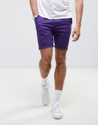 ASOS Skinny Shorts in Purple - Purple